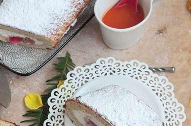 Gâteau roulé à la rhubarbe