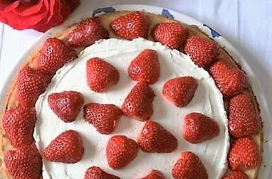 Tarte sablée aux fraises, crème mascarpone