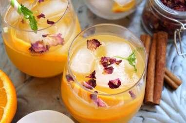 Orangeade cannelle, miel et fleur d'oranger