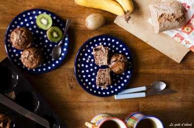 Muffins à la châtaigne aux pommes et au chocolat