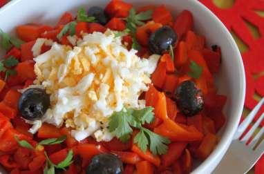 Salade de poivrons grillés aux oeufs