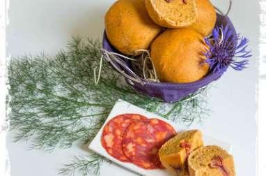 Petits pains au chorizo et au paprika fumé