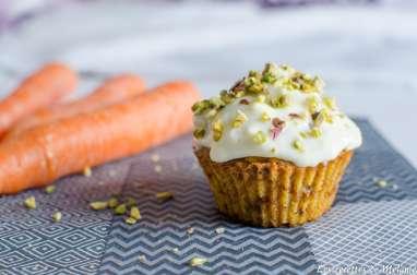 Carrot cupcake à la pistache