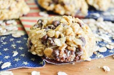 Biscuits anglais aux flocons d'avoine et au chocolat