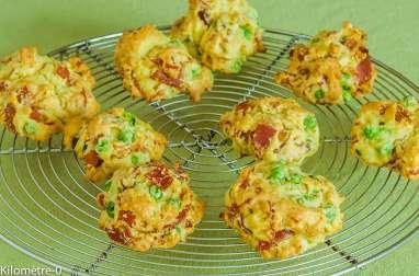 Cookies au jambon et petits pois