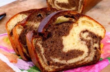"""Cake marbré """"trompe-l'oeil"""" pour l'apéritif"""