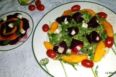 Salade de betterave, mangue et Salakis