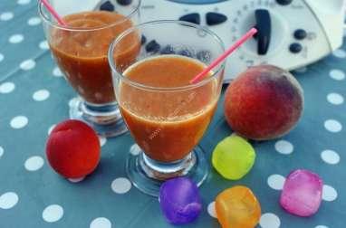 Smoothie abricot pêche au thermomix facile et rapide