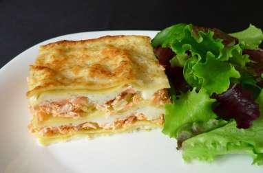 Lasagnes aux deux saumons et au poireau