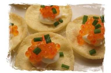 Bouchées Tricolores aux Oeufs de Saumon