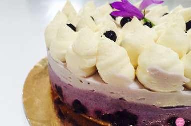 Cheesecake myrtilles et chocolat blanc