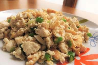 Tofu sauté aux ciboules