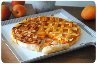Tarte grillagée aux abricots