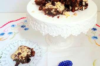 Brownies au chocolat au lait, amandes et cranberries