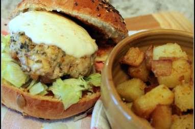 Hamburger de poulet légumiel tomate origan