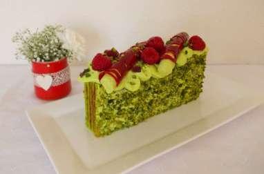 Cake pistache framboise