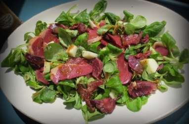 Salade de Magret et Gésiers de Canard à la Vinaigrette d'Erable