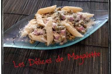 Pâtes au Jambon et Petit Pois