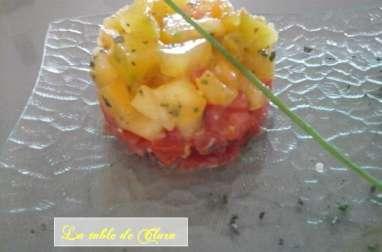 Tartare aux deux tomates