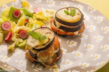 Millefeuilles d'aubergines et tomates
