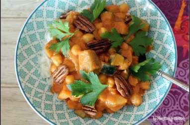 Curry de pois chiches végétalien
