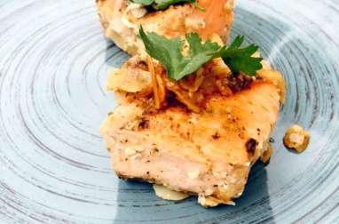 Pavés de saumon au miel et au ras el hanout
