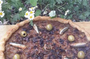 Tarte à l'oignon façon pissaladière
