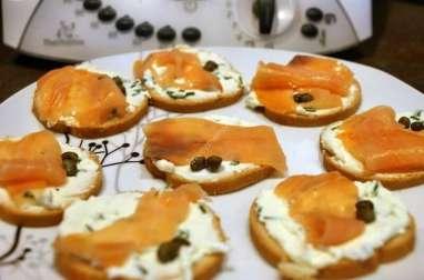 Toast saumon fromage frais au thermomix facile et rapide
