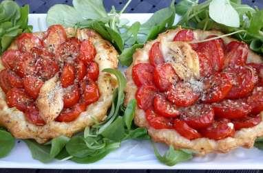 Tartelette tomates cerises et bacon