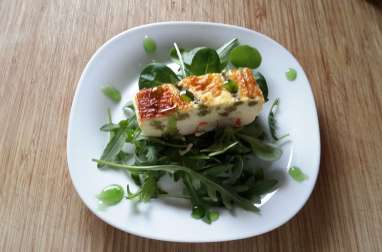 Terrine surimi asperge verte et sa crème balsamique pomme