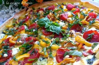 Tarte aux épinards tomates cerise feta basilic