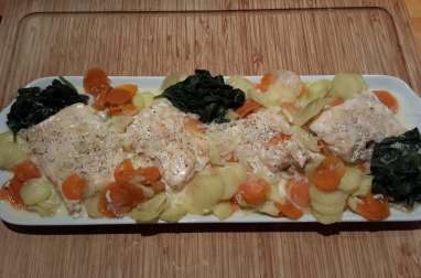 Saumon et ses petits légumes