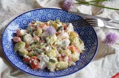 Salade piémontaise côté mer poisson