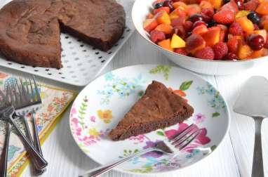 Gâteau au chocolat sans gluten ni produit laitier