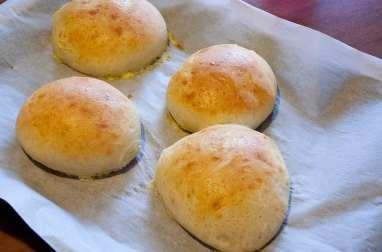 Pains burgers buns ou hot dog au son d'avoine, lait, oeuf