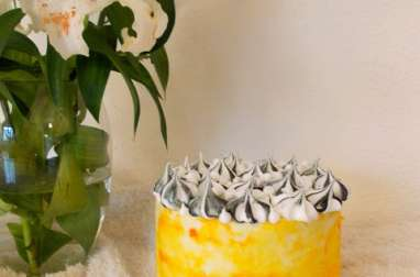 Laye cake meringué citron pavot