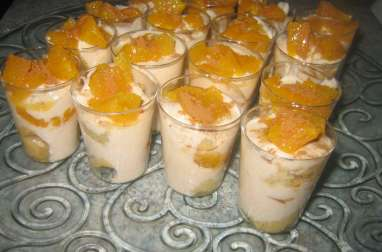 Tiramisu léger au fromage blanc, cannelle et aux oranges