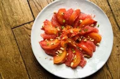 Tomate et pamplemousse rose