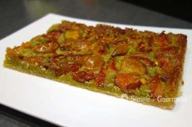 Tarte mirabelles pistaches