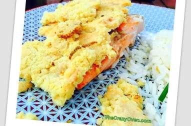 Saumon express à la plancha et son crumble au parmesan et aux agrumes