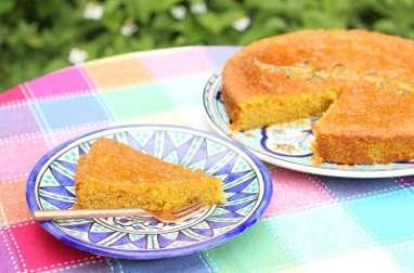 Gâteau polenta-amandes au citron, romarin et huile d'argan