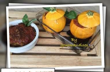 Courgettes farcies bœuf, tomate, parmesan