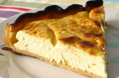 Tarte au fromage blanc, saveur vanille