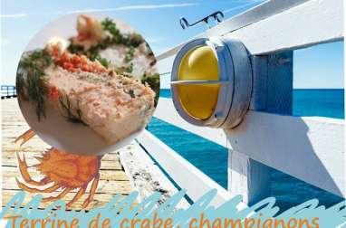 Terrine de crabe saveur champignons