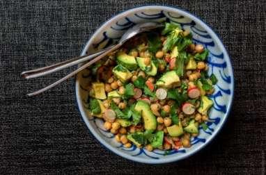 Salade de pois chiches à la coriandre