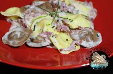 Duetto champignons émincés et fromage italien sauce parmesan