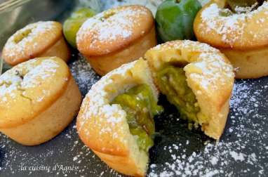 Muffins au coeur reine claude
