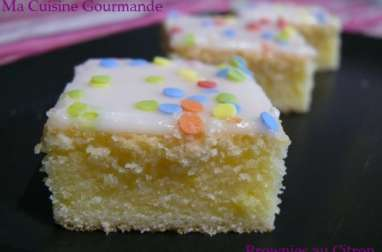Un presque brownie au citron
