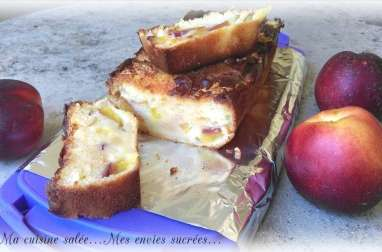 Cake aux nectarines chamallows