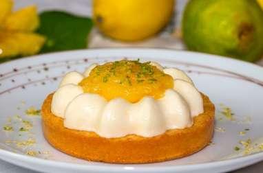 Minis Saint-Honorés glacés au citron et au lemon curd